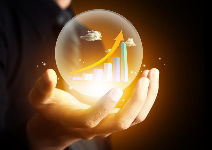 crystal ball displaying data-driven predictive maintenance solutions