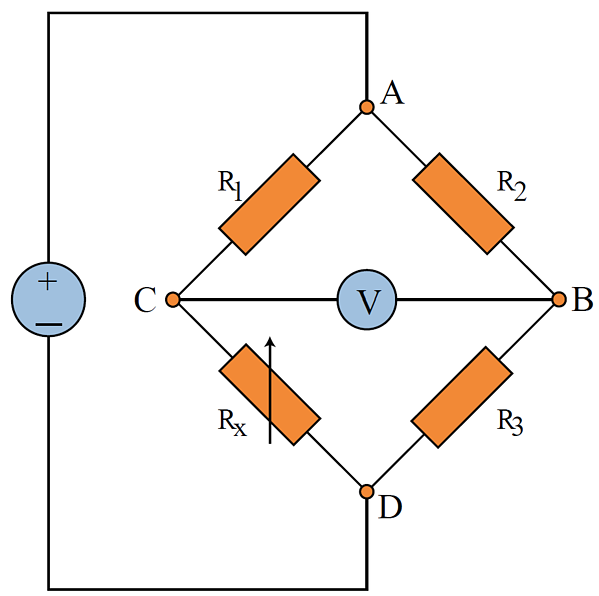 wheatstone quarter bridge diagram