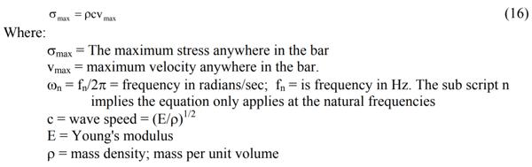 Gaberson modal velocity
