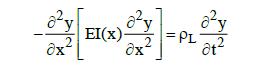 Bernoulli-Euler beam equation for beam bending free vibration