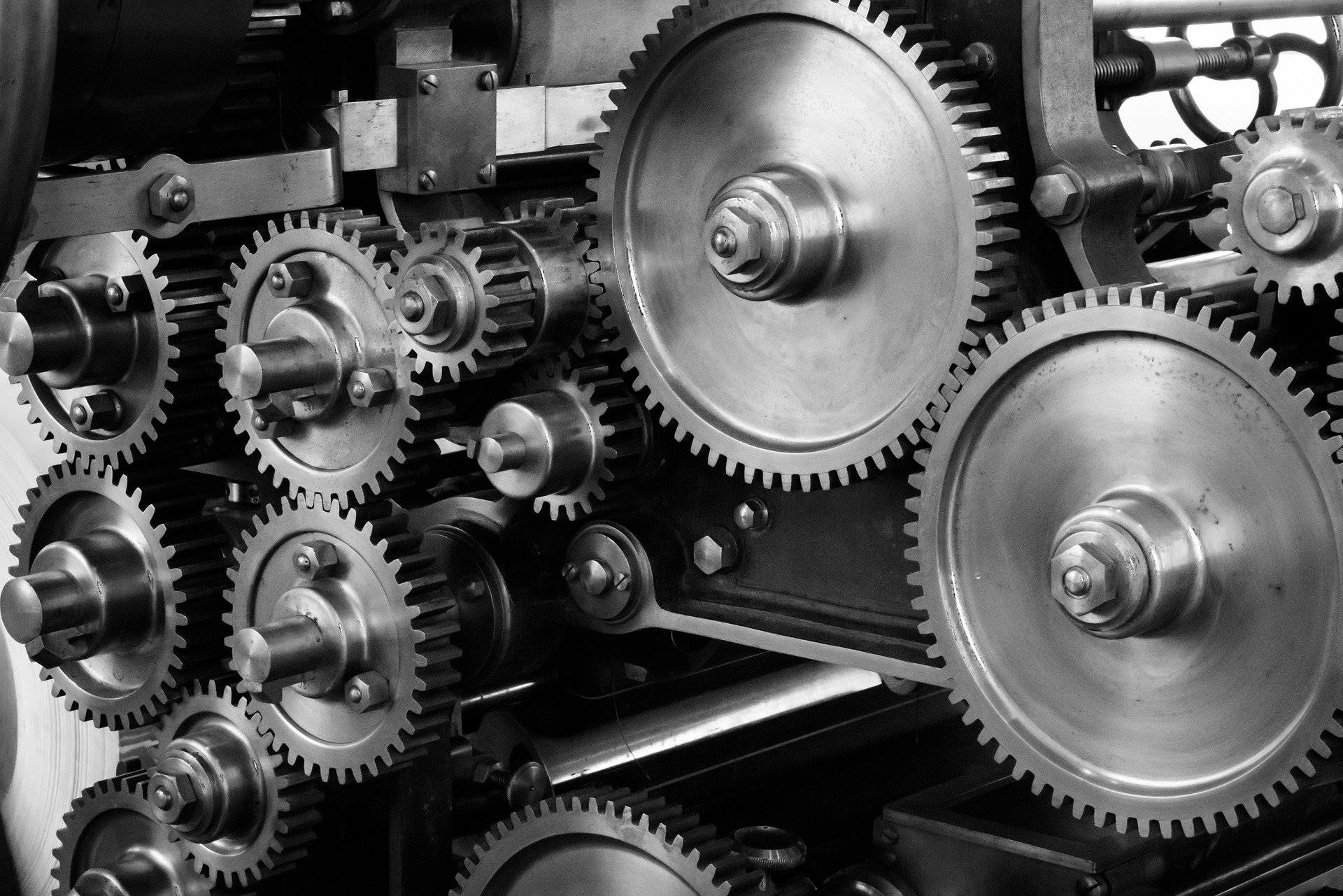 gears being monitored within a machine with preventative maintenance